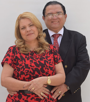 Jefferson Magno Costa e sua esposa, Damaris Lisboa Costa