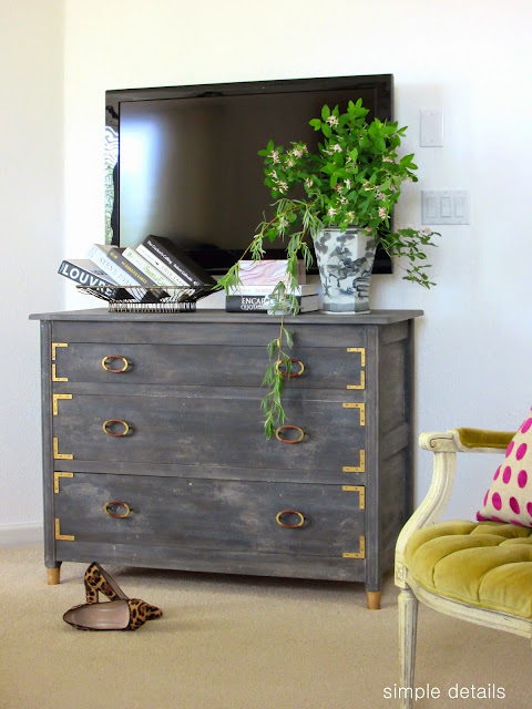dark gray washed dresser