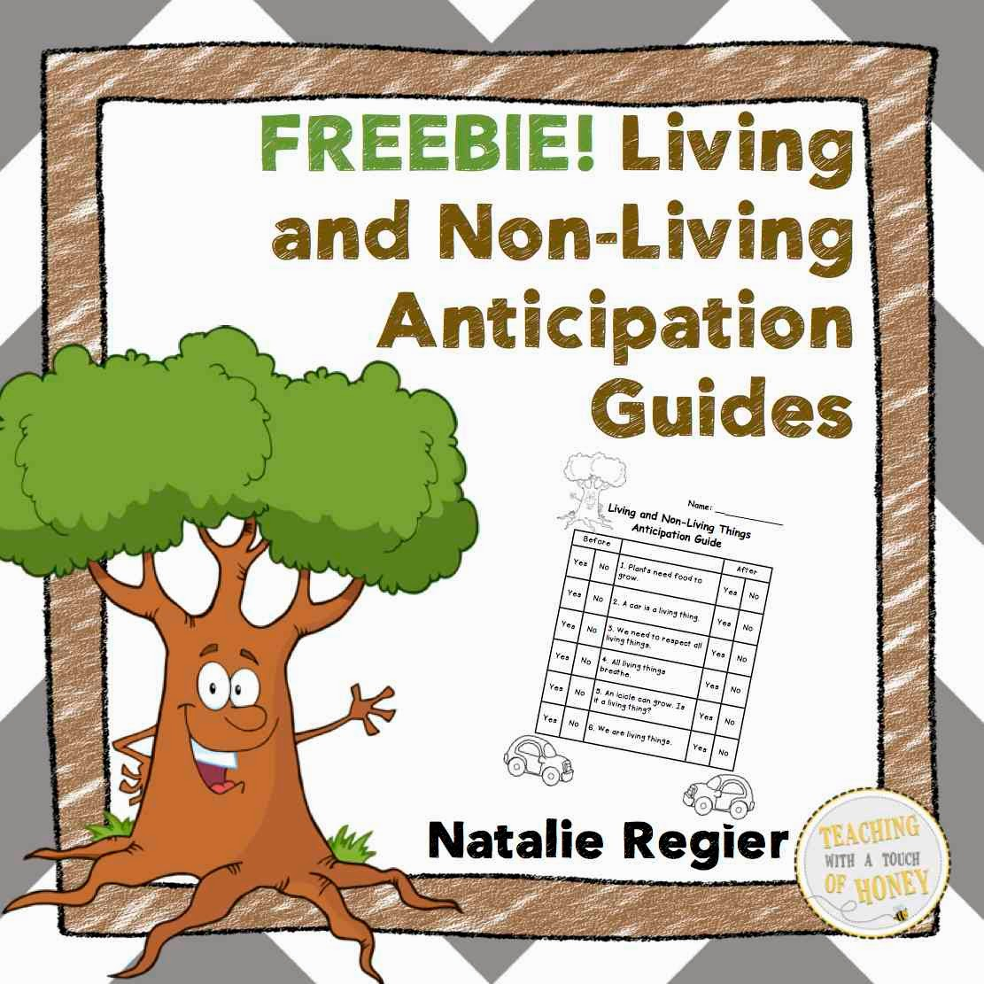 Classroom Freebies Too Living And Non Living Anticipation