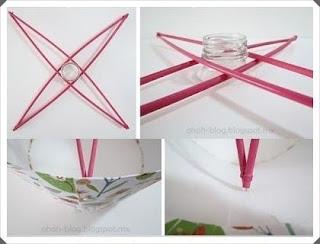Cam Şişe ve Kağıttan Lamba Yapımı 3