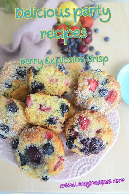 Delicious Party Recipes - Berry Explosion Crisp