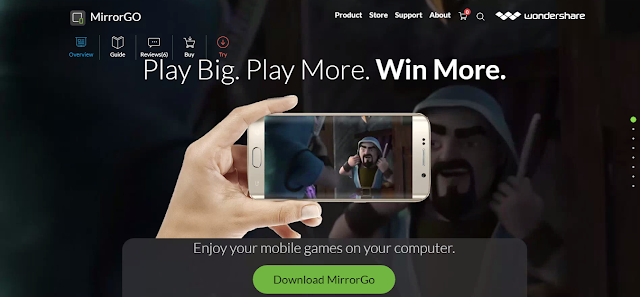 برنامج MirrorGo Android إدارة الهاتف الاندرويد بواسطة الكمبيوتر