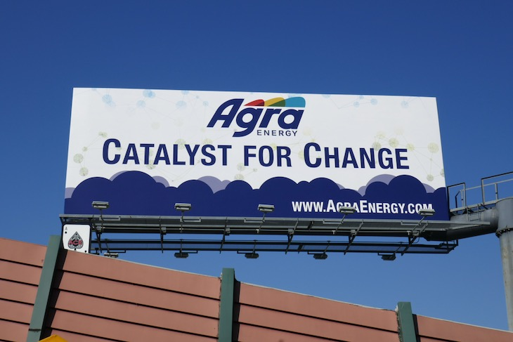Agra Energy Catalyst for Change billboard