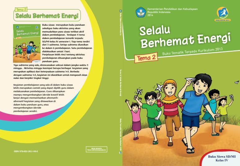 Download Buku Tematik Kurikulum 2013 SD/MI Kelas 4 Tema 2 Selalu Berhemat Energi Edisi Revisi Format PDF