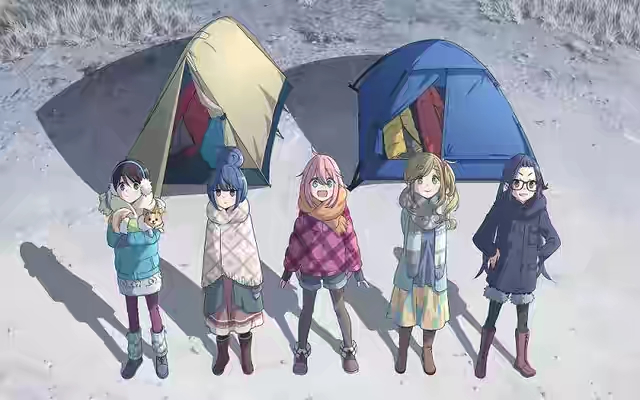 Laid Back Camp Anime Preview Music In New Promo.