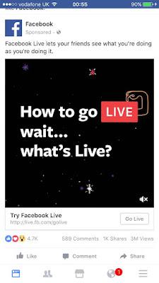 Facebook Live ad
