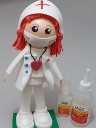 Fofucha enfermeira de EVA