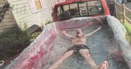 Funny Facebook Status Funny Redneck Swimming Pool