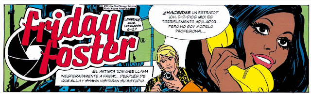 Friday Foster Sunday pages de Lawrence y Longaron comic black power