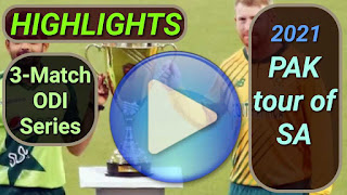 South Africa vs Pakistan ODI Series 2021