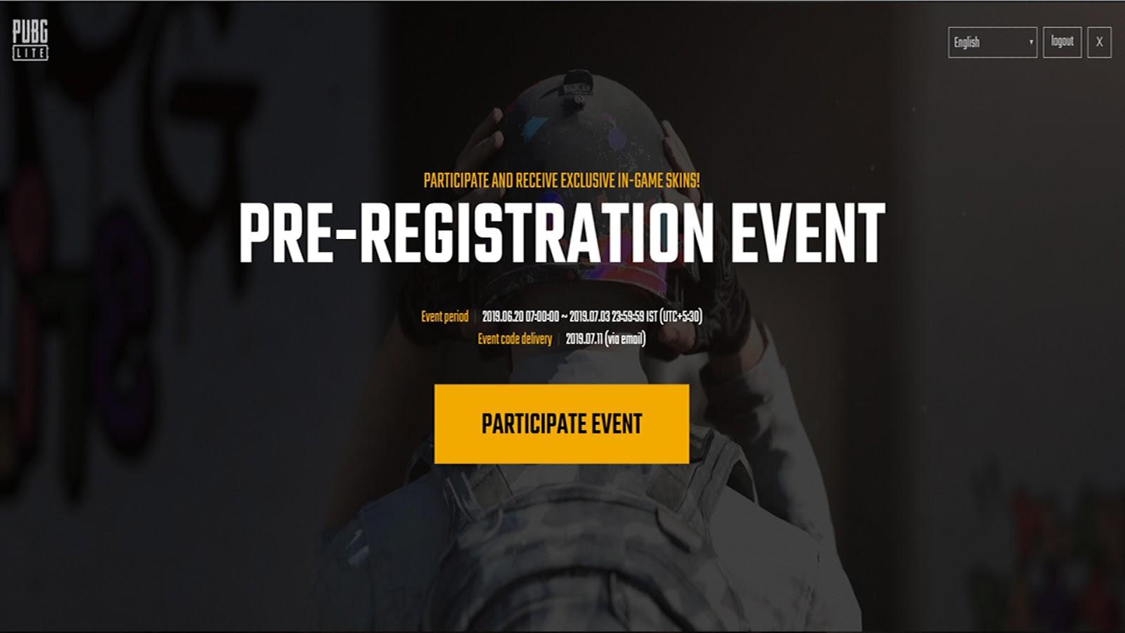 Pubg Lite Pc Pre Registration Event For India Release