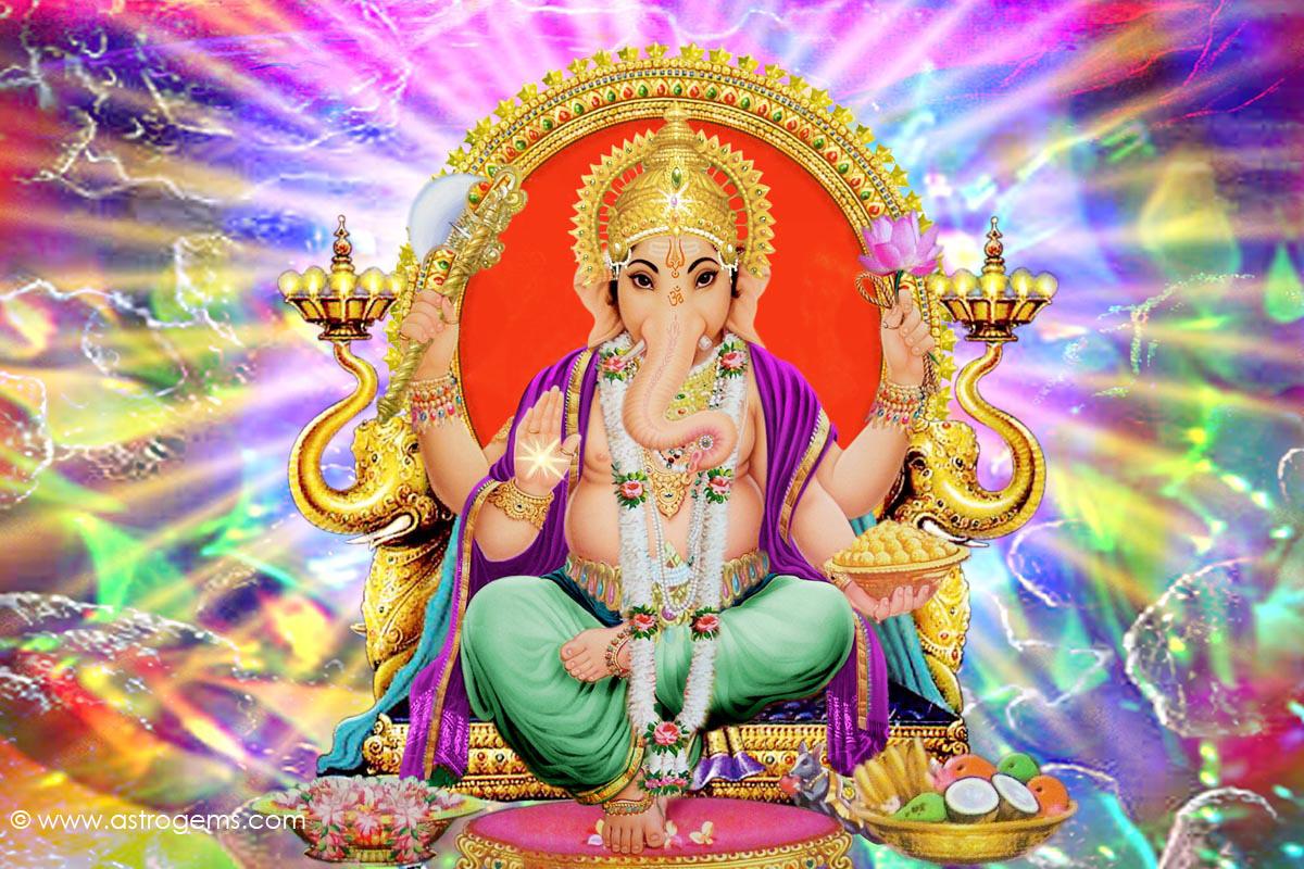 Hare Krishna: Shri Ganesh Wallpaper-10