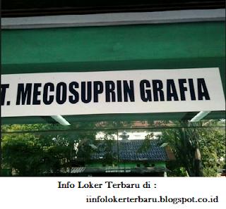 Lowongan Kerja PT. Mecosuprin Grafia