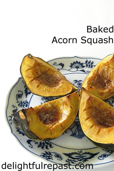 Baked Acorn Squash / www.delightfulrepast.com