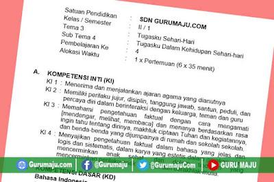 RPP Kelas 2 Tema 3 Kurikulum 2013 Revisi Tahun 2019