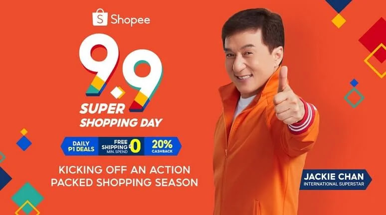 Shopee Kicks Off 9.9 Super Shopping Day with International Superstar Jackie Chan