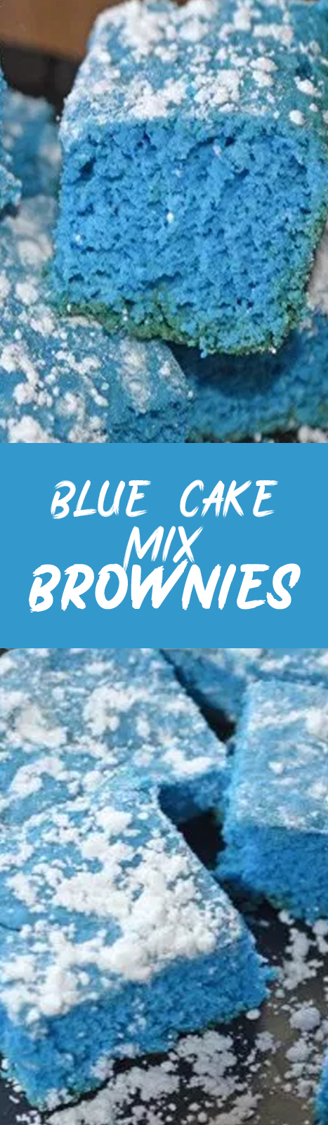 Recipe Blue Cake Mix Brownies #cake #brownies