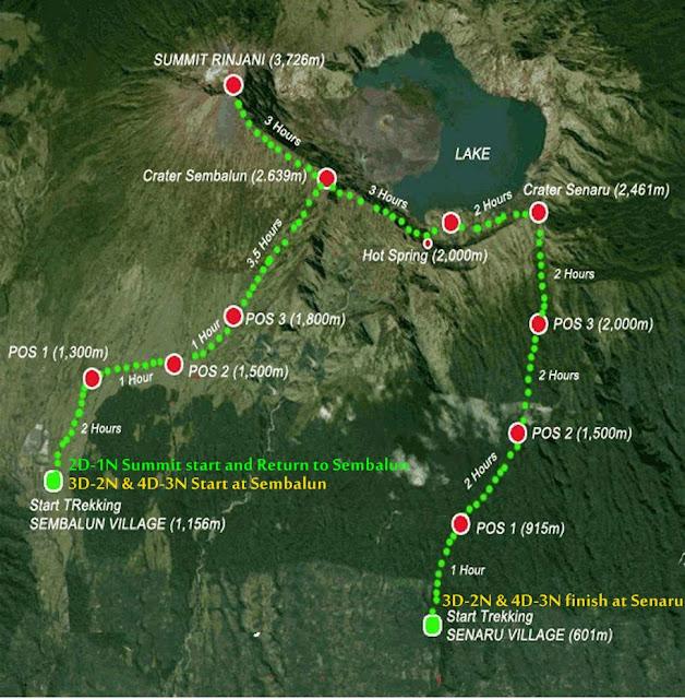 Jalur Pendakian Gunung Rinjani via Sembalun