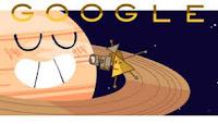 Doodle di Google: la Sonda Cassini arrivata agli anelli Saturno