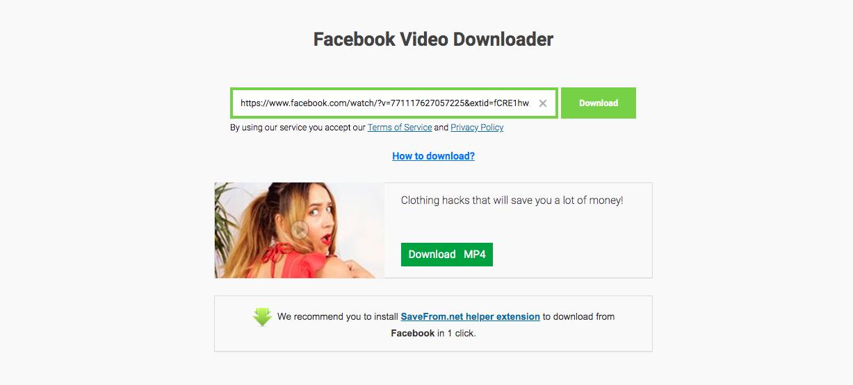 SaveFromnet Facebook Video Downloader