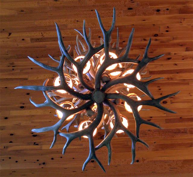 rustic antler chandelier picture