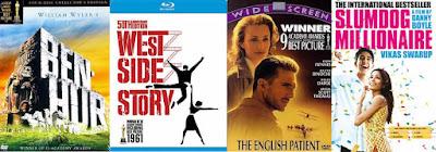 Ben-Hur; West Side Story; English Patient; Slumdog Millionaire