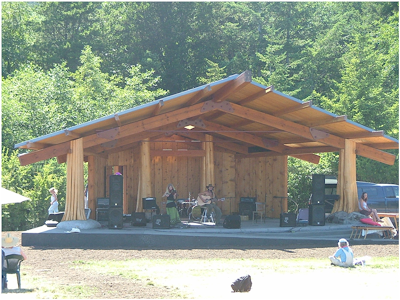 Village Green in Eastsound on Orcas Island