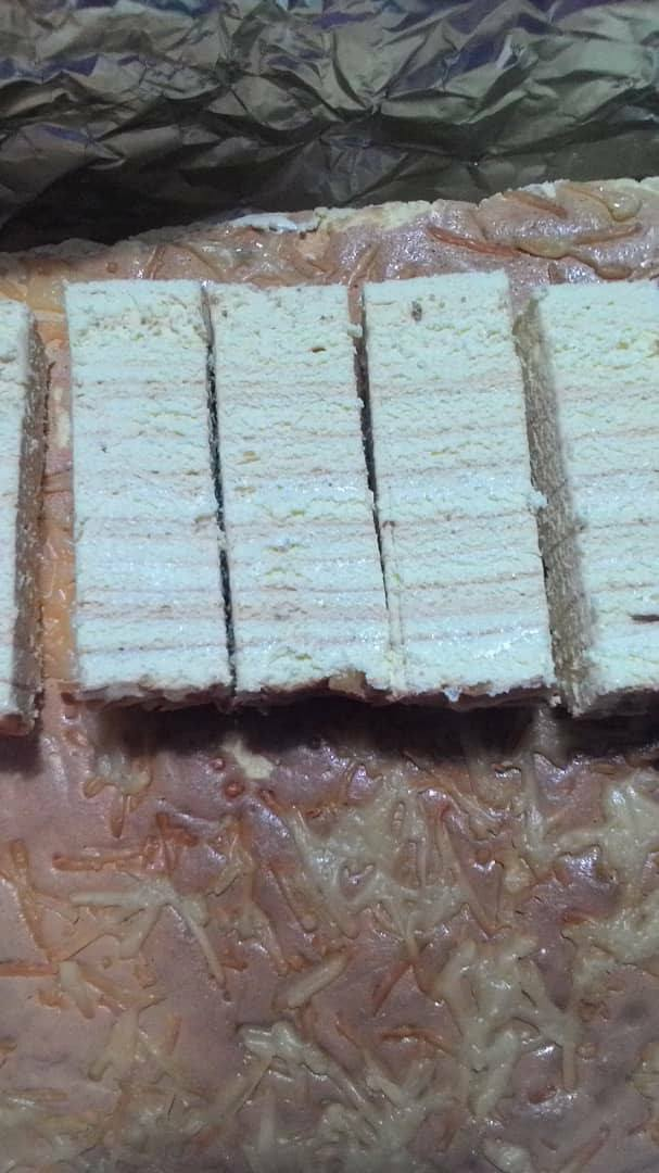 resepi kek lapis milk cheese