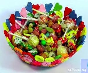 How To Make Cute Candy Places From Buttons