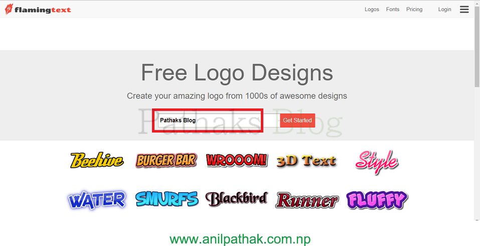 create logo from text free of cost online, pathaks blog, anil pathak