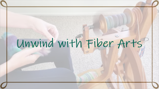 Unwind with fiber arts is a 5 minute, slow crafting, meditation to help you relax and calm your mind. In this episode, I am spinning yarn on my spinning wheel.