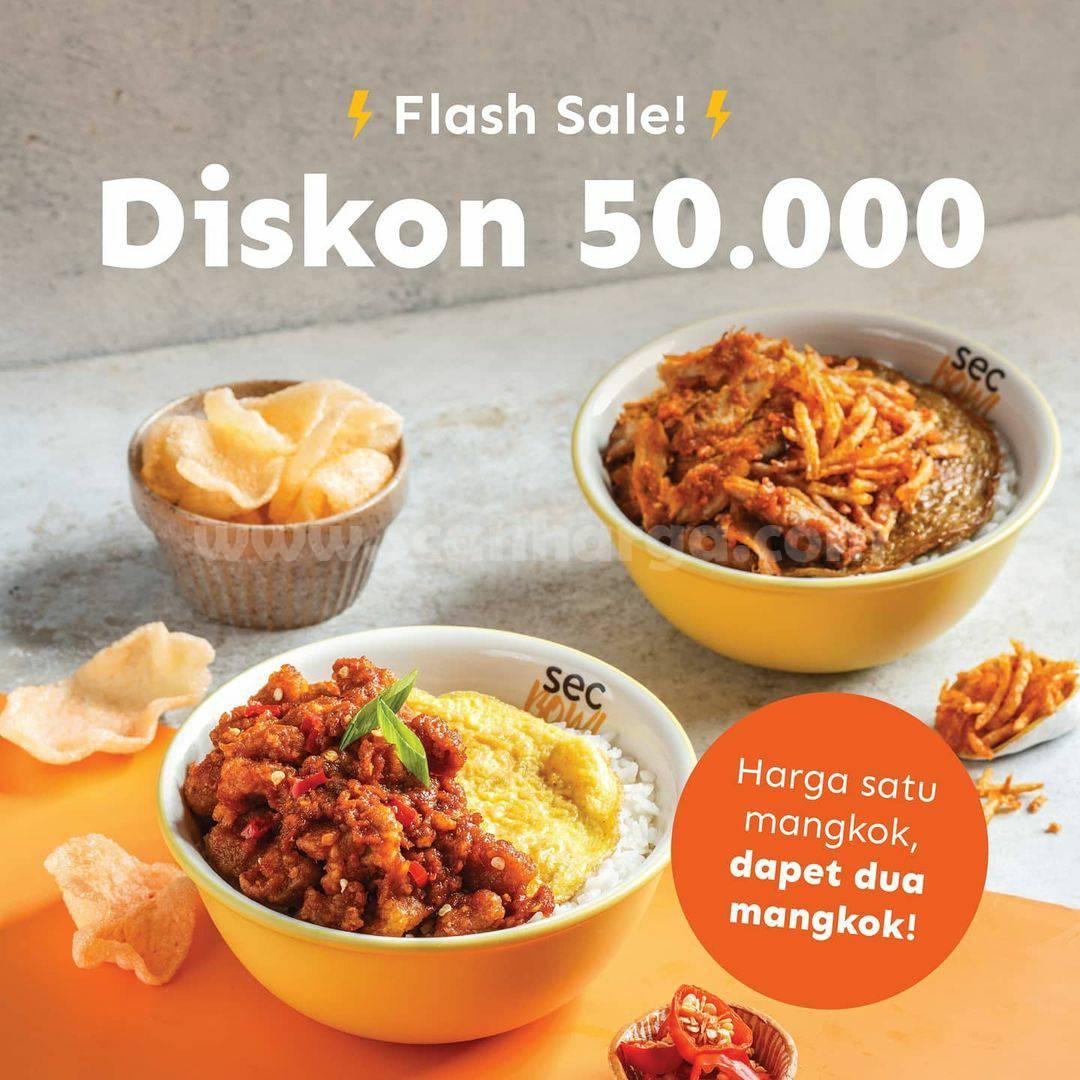 SEC BOWL Promo FLASH SALE – DISKON hingga Rp 50.000 via GRABFOOD