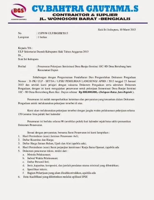 Contoh Surat Penawaran Kerja Sama (via: saintif.com)