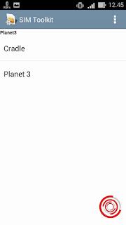1. Langkah pertama untuk menghilangkan pop up planet 3 yang berupa iklan atau promo yaitu silakan kalian buka aplikasi SIM toolkit terlebih dahulu. Selanjutnya pilih Cradle