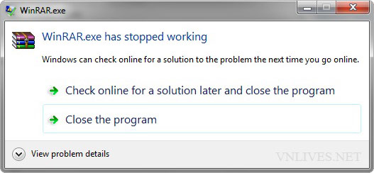 Check online for a solution later and close the program.