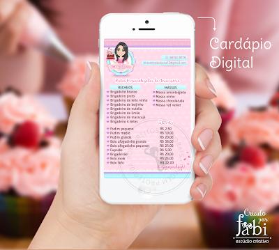 cardápio digital, menu para whats, menu para confeiteira