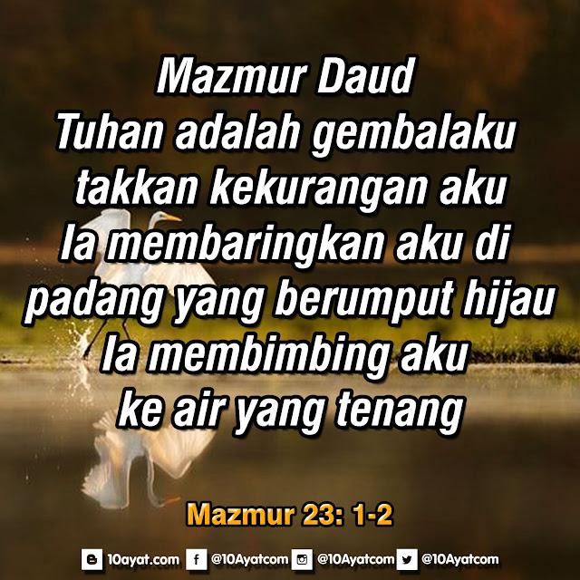 Mazmur 23: 1-2