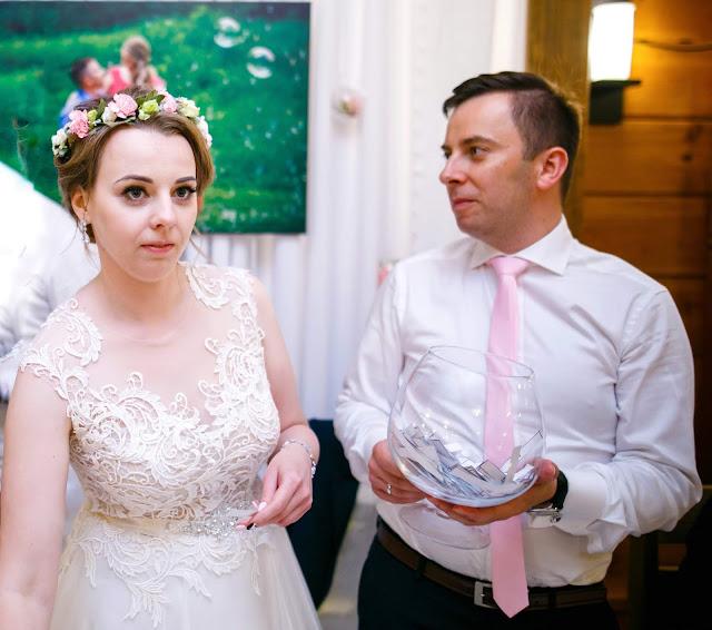 loteria fantowa, zabawy weselne, para młoda, panna młoda, suknia ślubna, pan młody, losy
