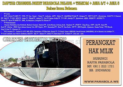 antena parabola venus 7 feet jaring 4 LNB