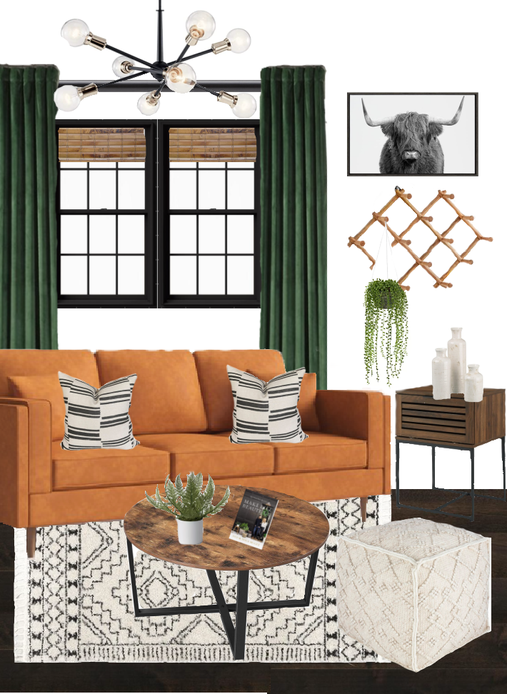 Modern Living room mood board