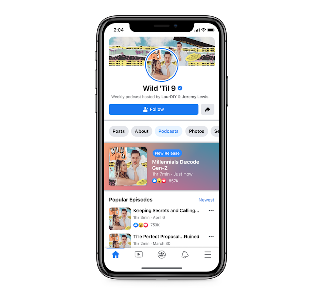 Si vous êtes plus dans l'audio de longue durée, la société a également annoncé que vous serez en mesure d'écouter des podcasts directement au sein de Facebook dans les prochains mois.