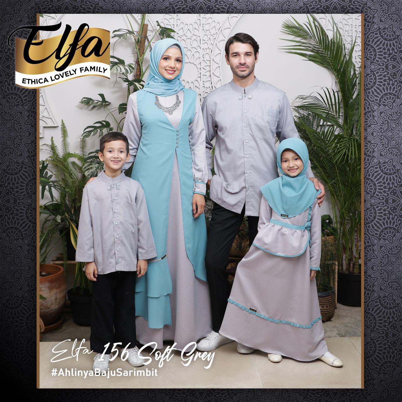 Koleksi Sarimbit Keluarga Ethica Terbaru 2020 Elfa 156 Soft Grey