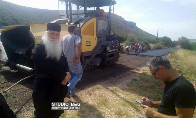 Ασφαλτόστρωση από την Π.Ε. Αργολίδας στον δρόμο προς Άγιο Λουκά