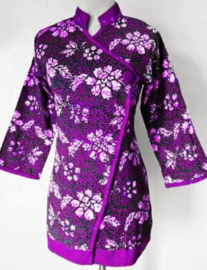 Model Baju Batik Wanita Modern Terbaru Atasan Kerja Lengan Panjang