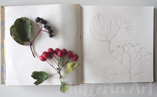 September-Skizzenbuch nach ©muellerinart