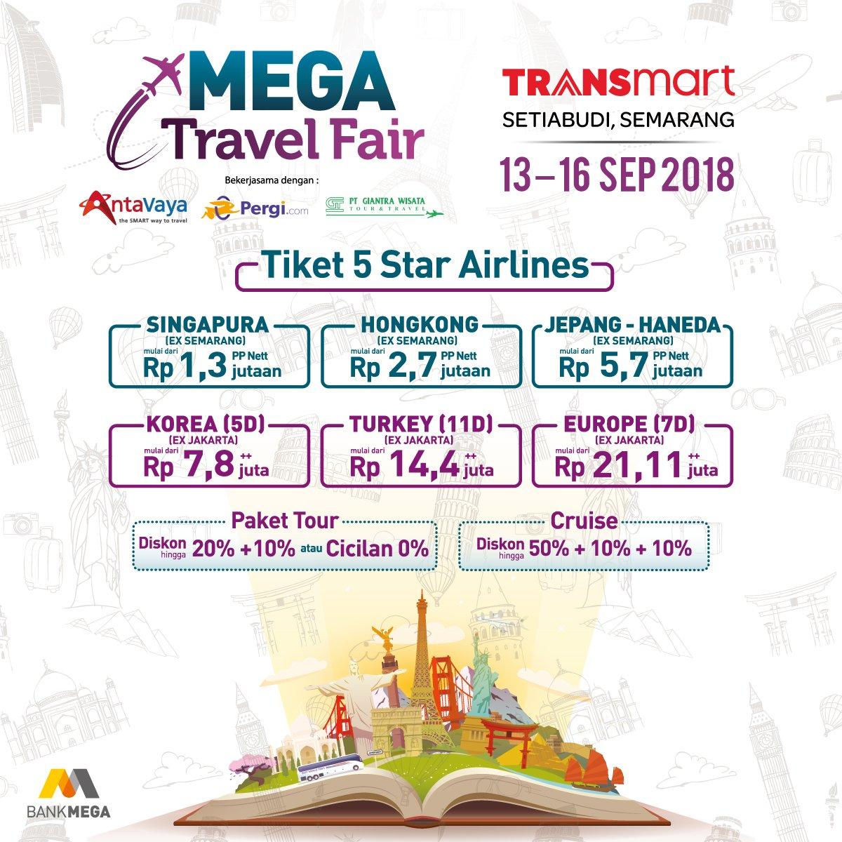 Transmart - Promo Mega Travel Special Bank Mega & Nikmati Cicilan 0%