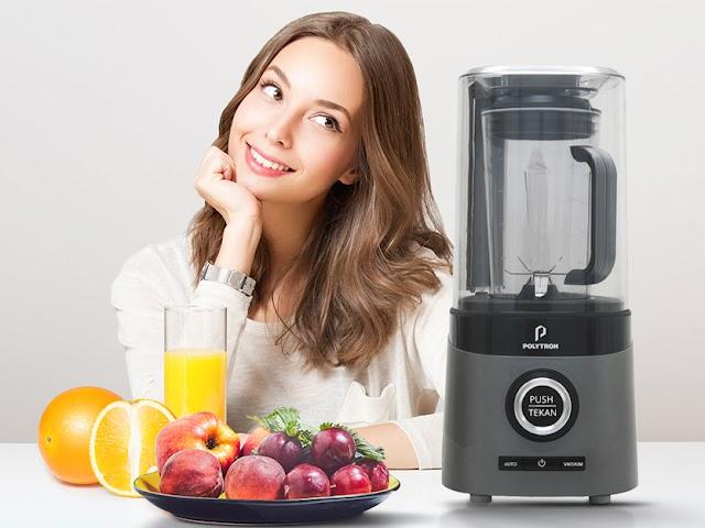 Menjaga Kandungan Nutrisi Minuman dan Makanan Sehat dengan Vacuum Blender PVB 112G