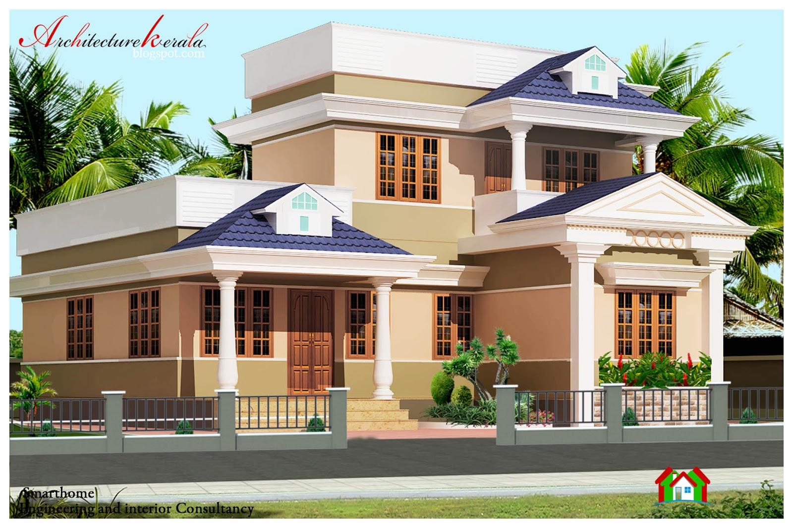Kerala style modern house plans and elevations front design for 1000 sq ft house front elevation