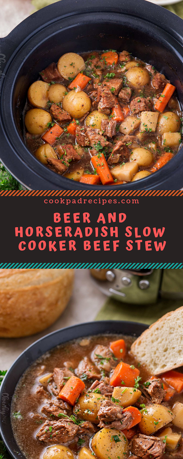 BEER AND HORSERADISH SLOW COOKER BEEF STEW