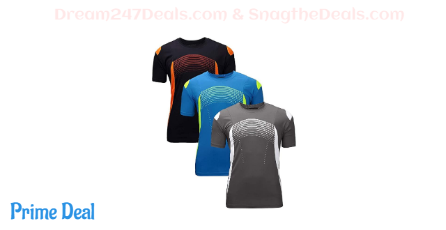 35% OFF  Men's-Athletic Dry-Fit Shirts Running - Moisture Wicking Short Sleeve